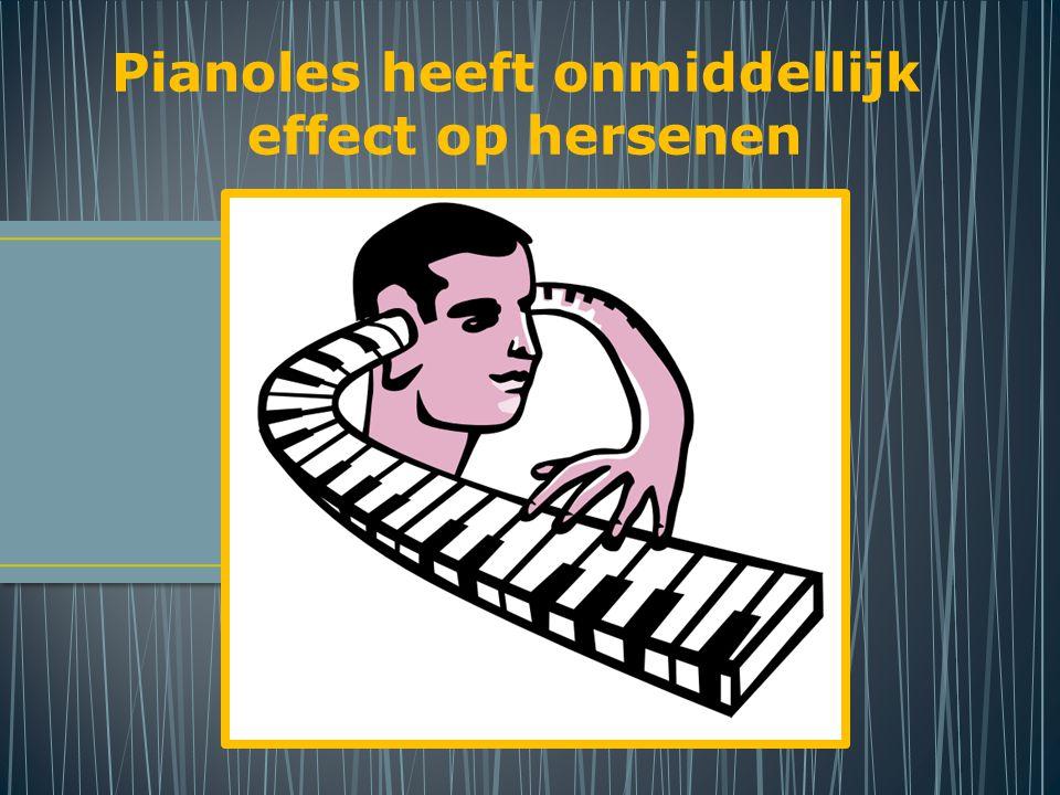 Pianoles heeft onmiddellijk