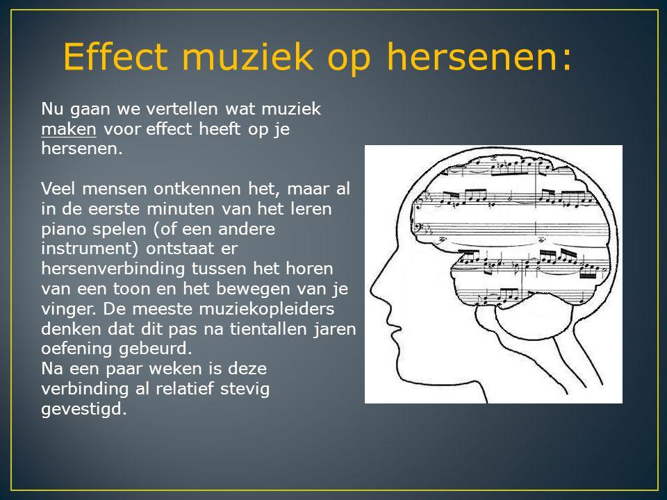 Effect muziek op hersenen: