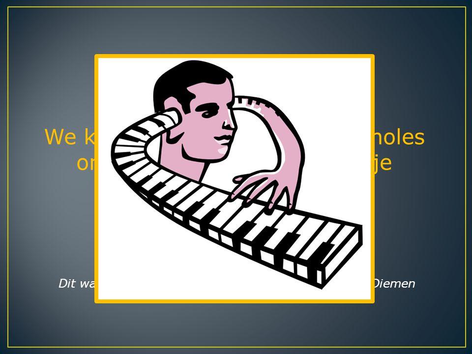 We kunnen dus zeggen dat pianoles onmiddellijk effect heeft op je hersenen.