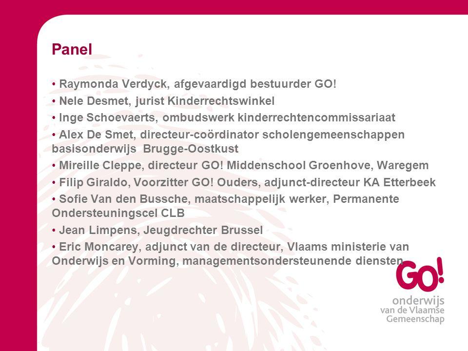 Panel Raymonda Verdyck, afgevaardigd bestuurder GO!