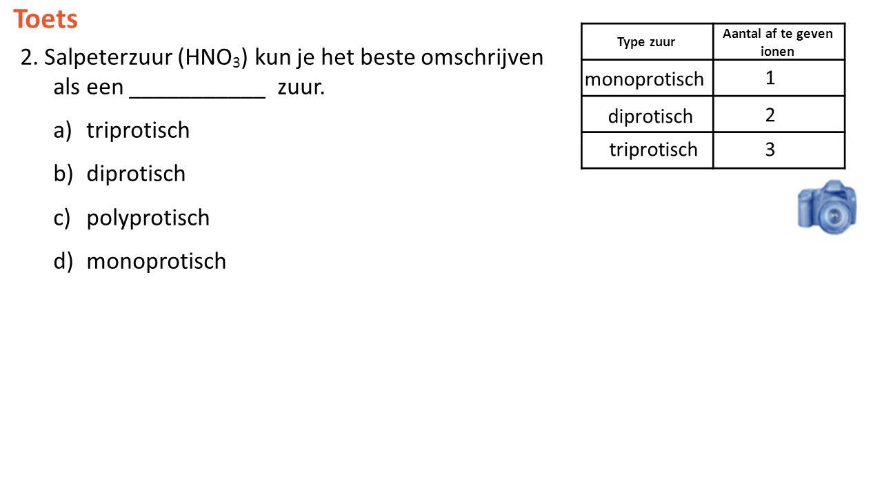 Aantal af te geven ionen