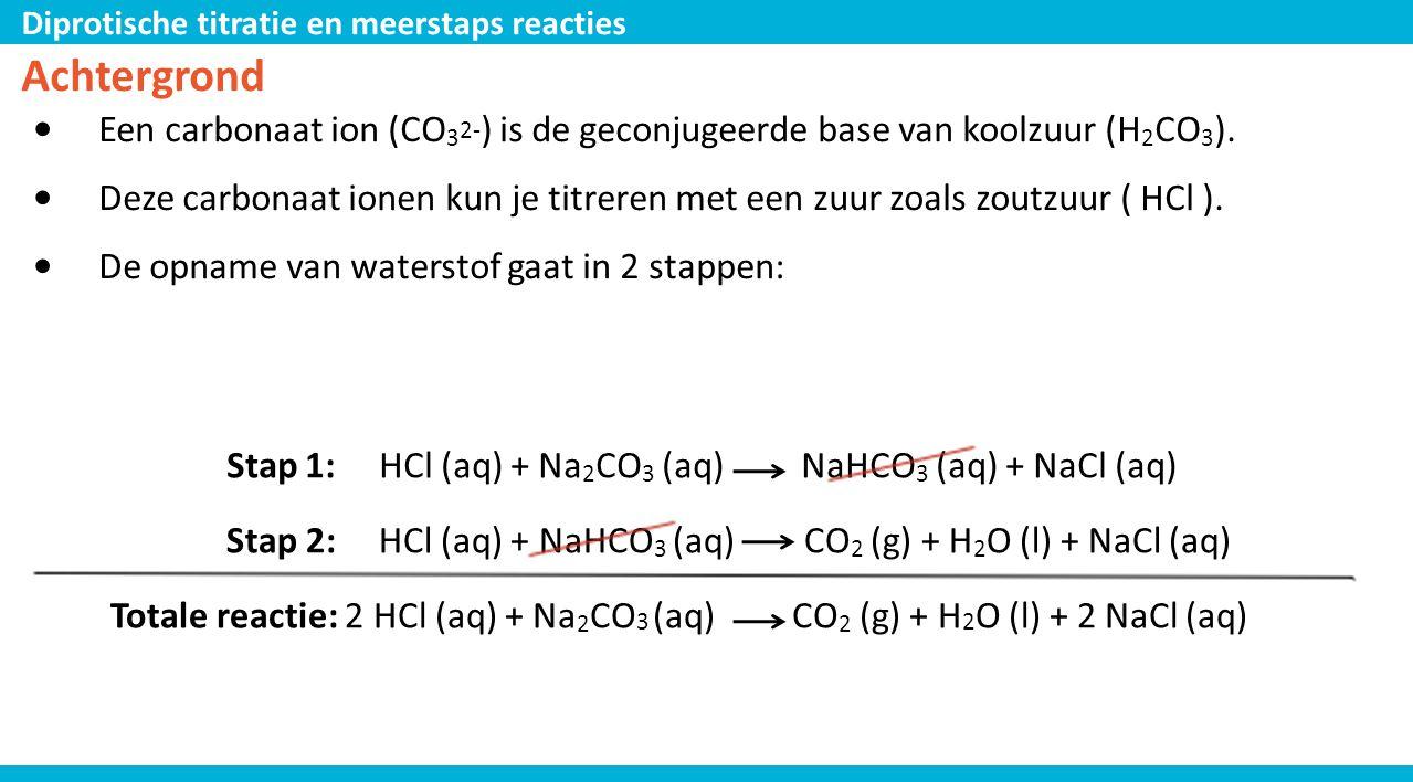Achtergrond Een carbonaat ion (CO32-) is de geconjugeerde base van koolzuur (H2CO3).