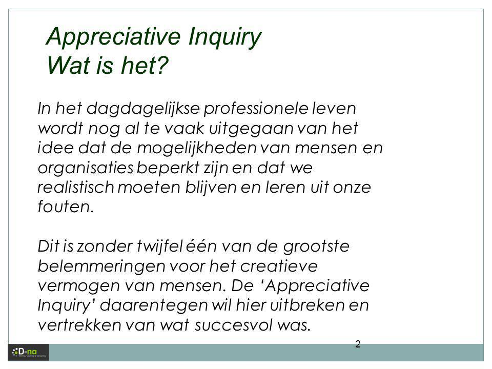 Appreciative Inquiry Wat is het
