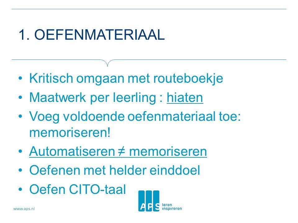 1. OEFENMATERIAAL Kritisch omgaan met routeboekje