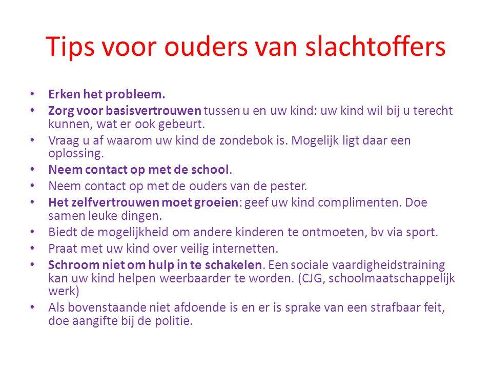 Tips voor ouders van slachtoffers