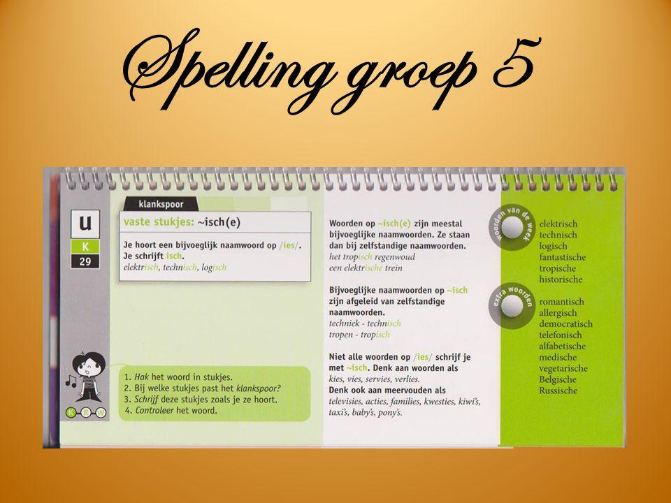Spelling groep 5