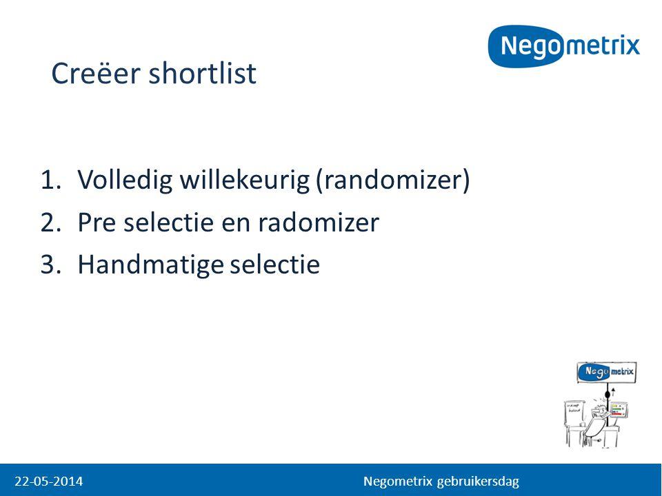 Creëer shortlist Volledig willekeurig (randomizer)