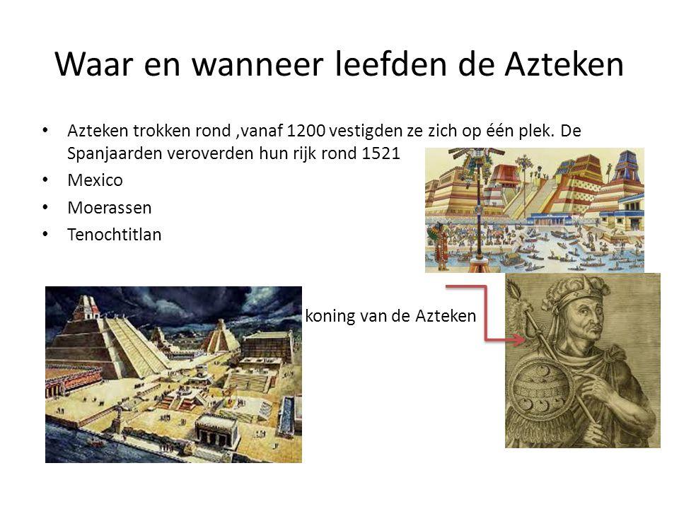 Waar en wanneer leefden de Azteken