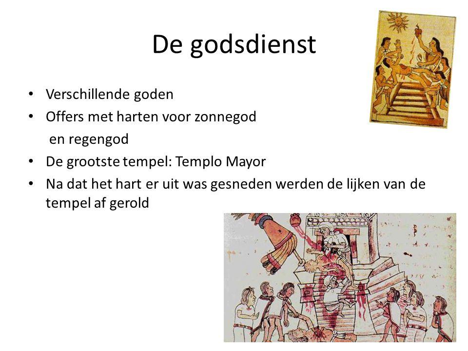 De godsdienst Verschillende goden Offers met harten voor zonnegod