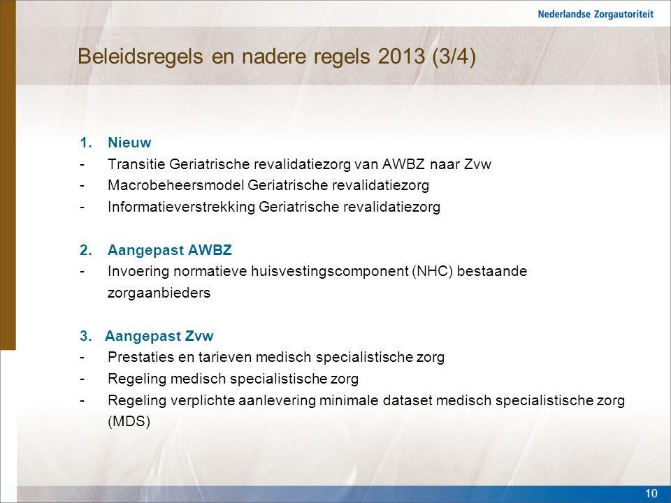 Beleidsregels en nadere regels 2013 (3/4)