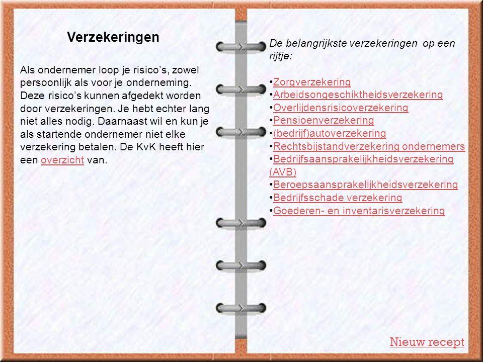 Verzekeringen Nieuw recept