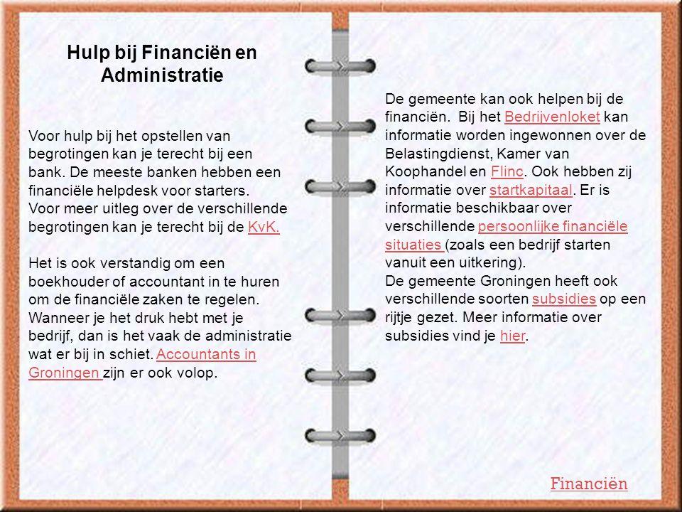 Hulp bij Financiën en Administratie