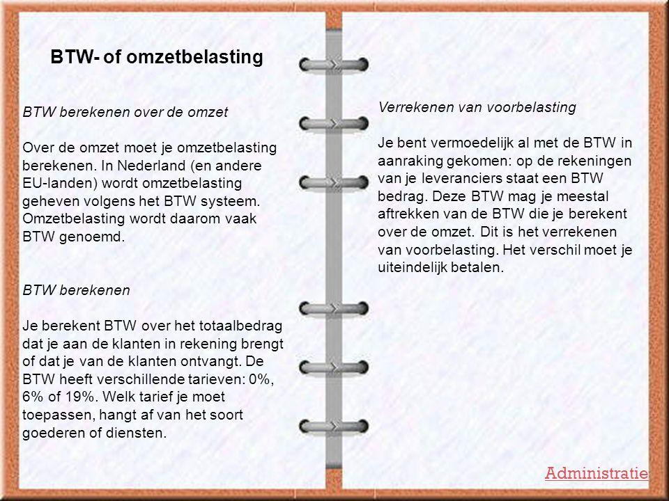BTW- of omzetbelasting