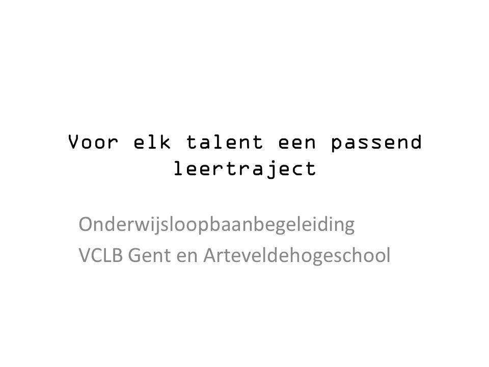 Voor elk talent een passend leertraject