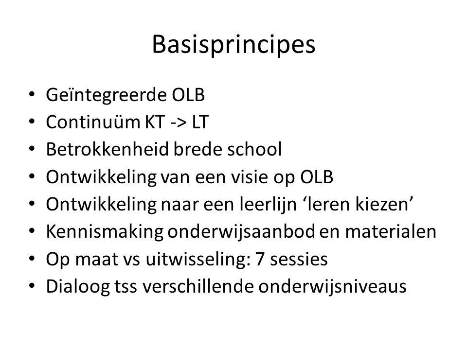 Basisprincipes Geïntegreerde OLB Continuüm KT -> LT