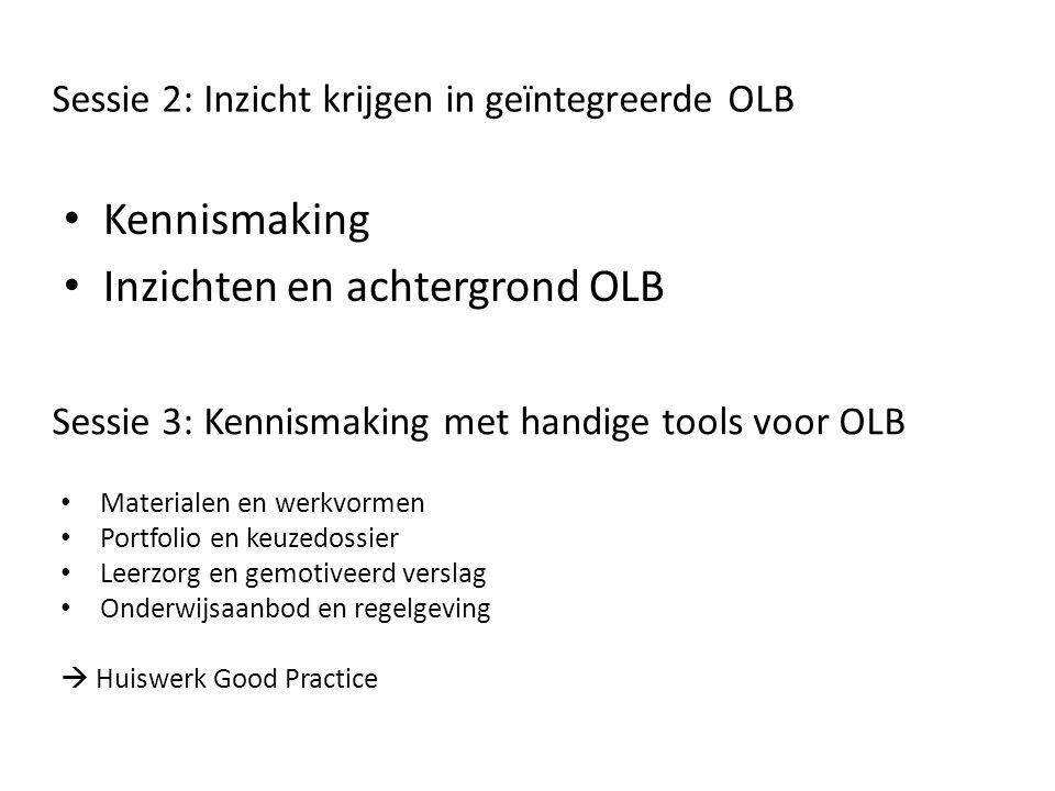 Sessie 2: Inzicht krijgen in geïntegreerde OLB
