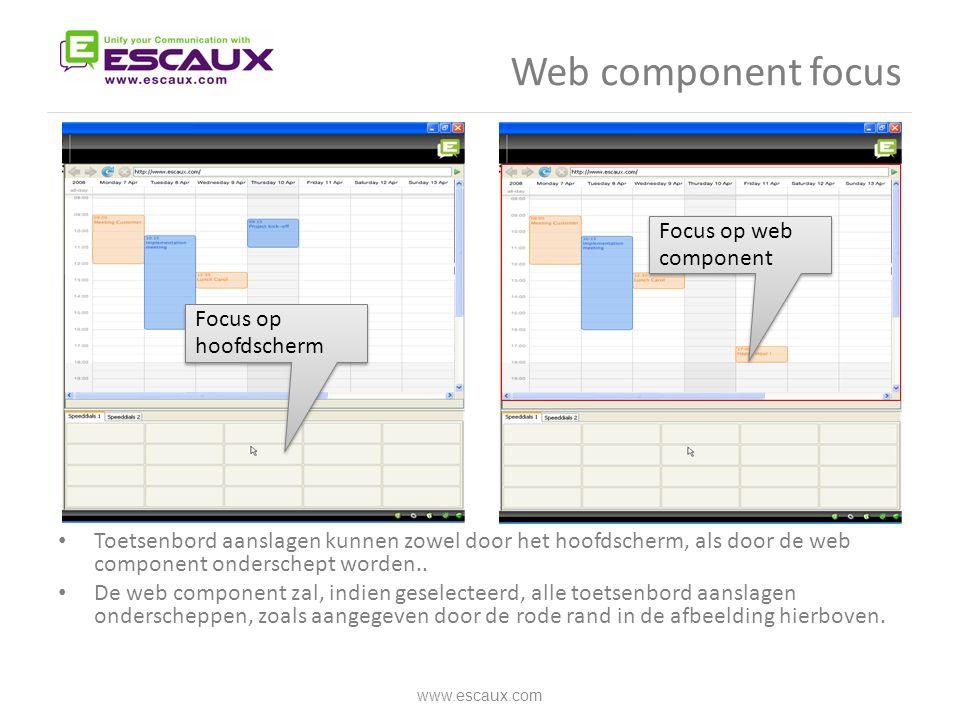 Web component focus Focus op web component Focus op hoofdscherm