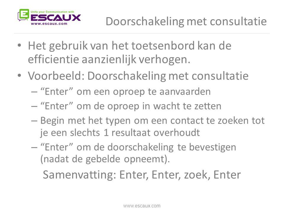 Doorschakeling met consultatie
