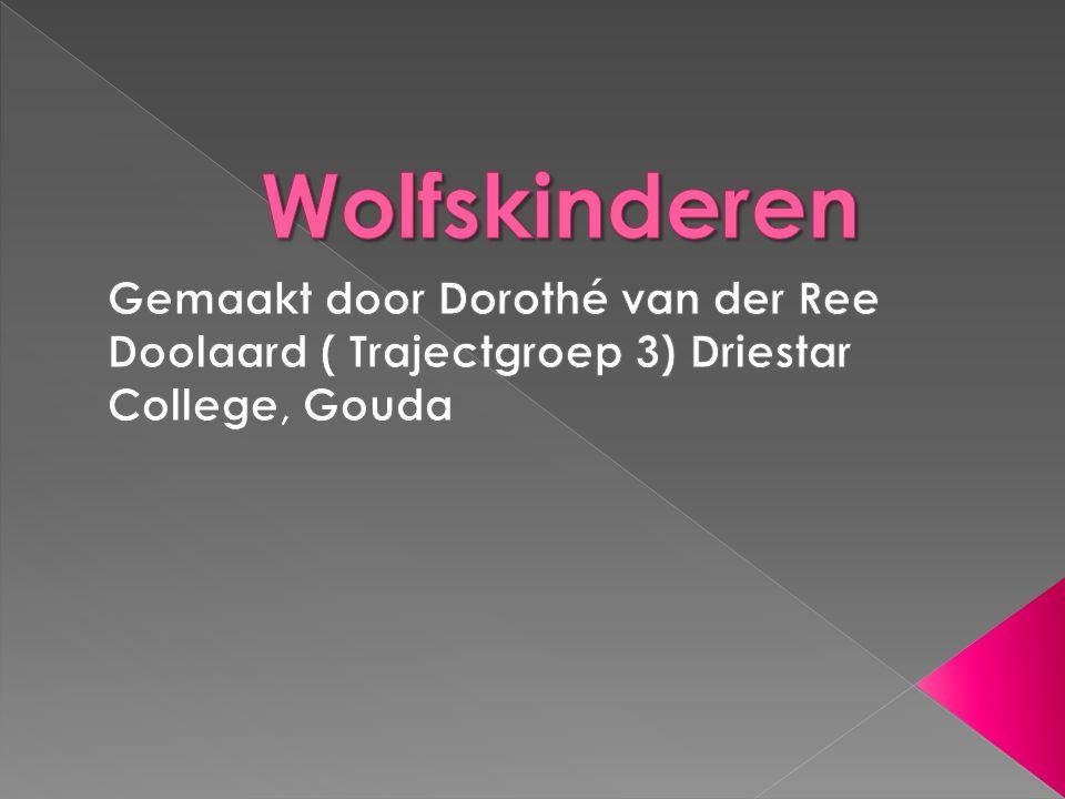 Wolfskinderen Gemaakt door Dorothé van der Ree Doolaard ( Trajectgroep 3) Driestar College, Gouda