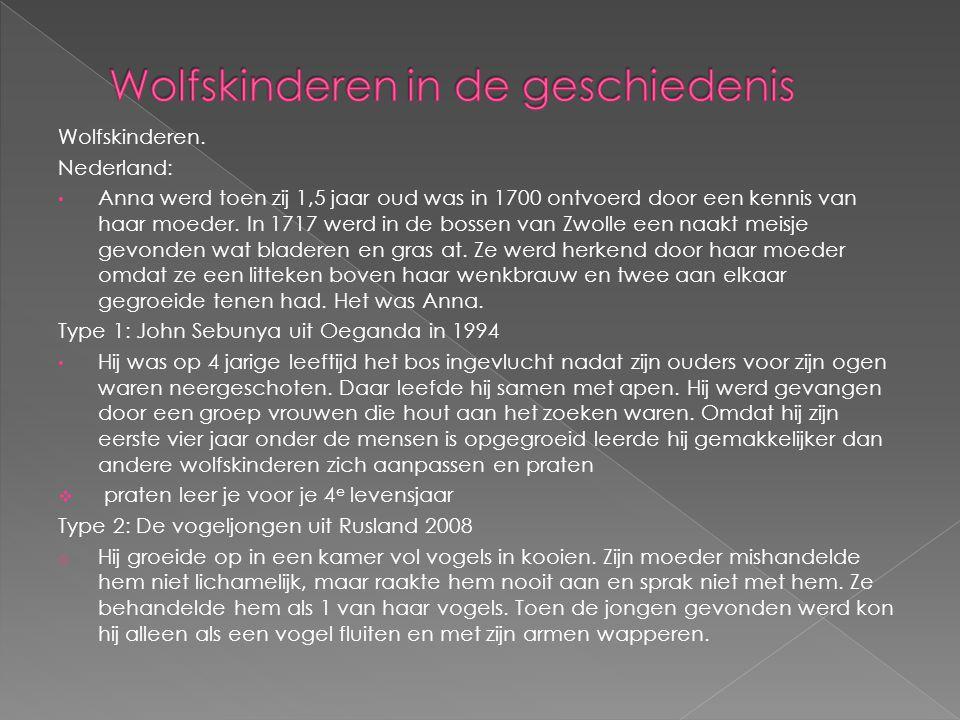 Wolfskinderen in de geschiedenis
