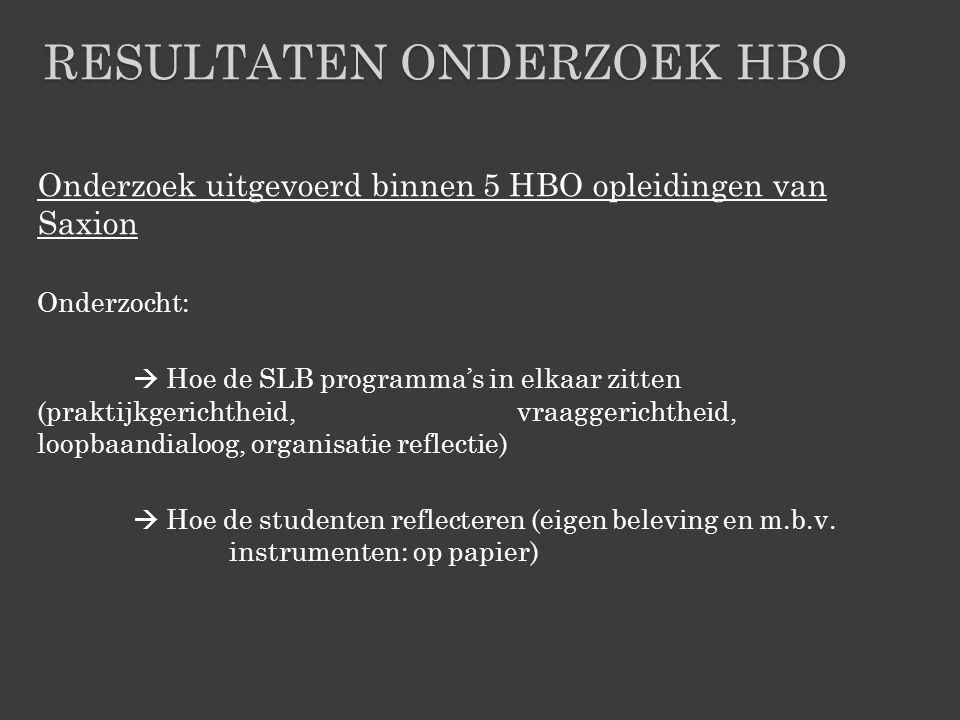 Resultaten onderzoek hbo