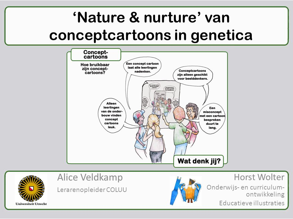 'Nature & nurture' van conceptcartoons in genetica