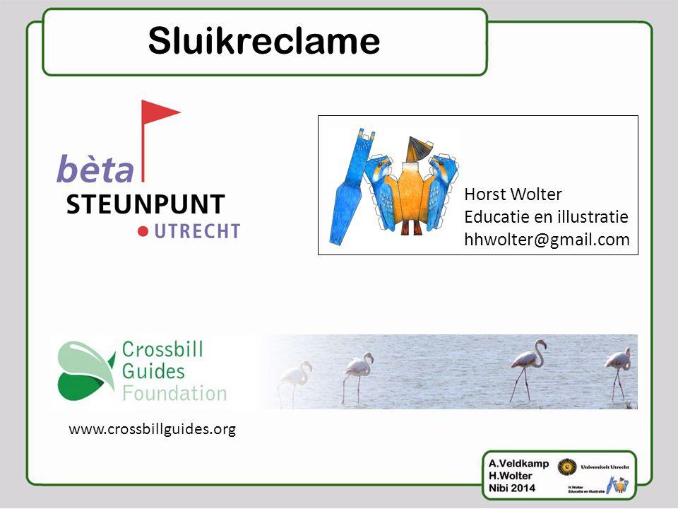 Sluikreclame Horst Wolter Educatie en illustratie hhwolter@gmail.com