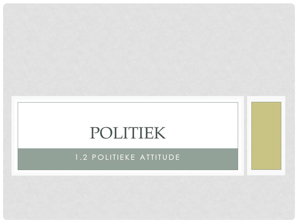 Politiek 1.2 Politieke attitude