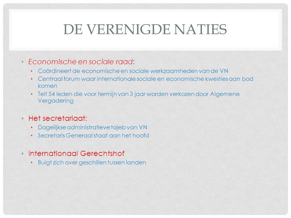 De Verenigde naties Economische en sociale raad: Het secretariaat:
