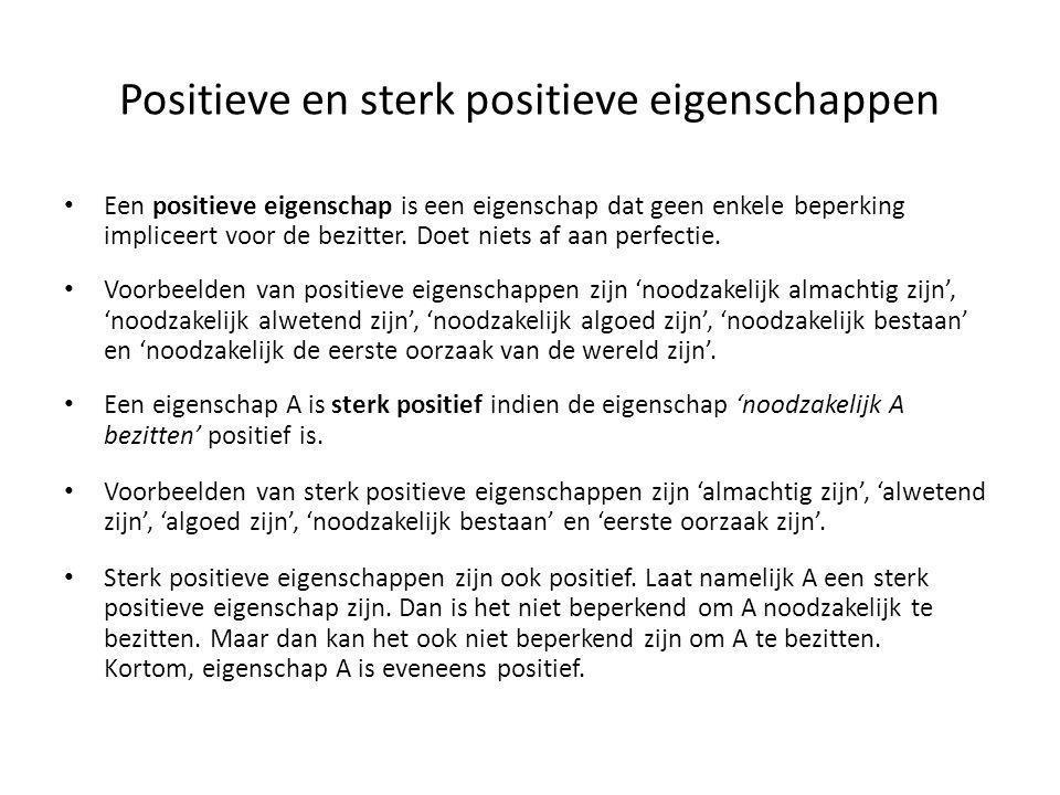 Positieve en sterk positieve eigenschappen