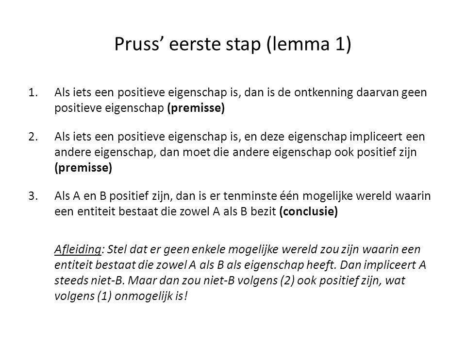 Pruss' eerste stap (lemma 1)
