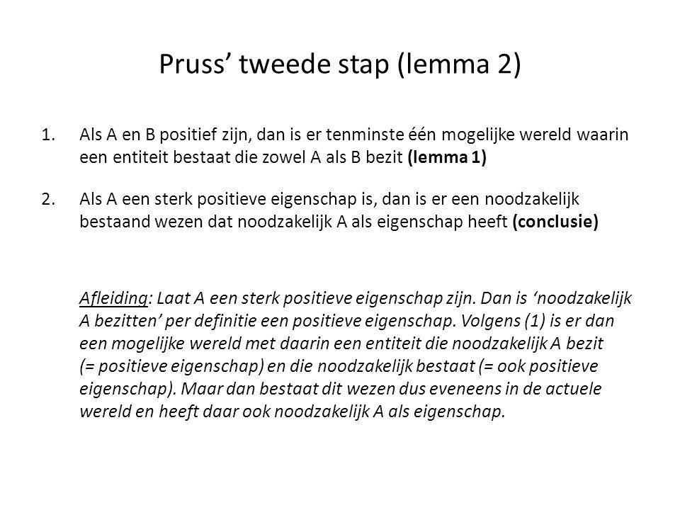 Pruss' tweede stap (lemma 2)