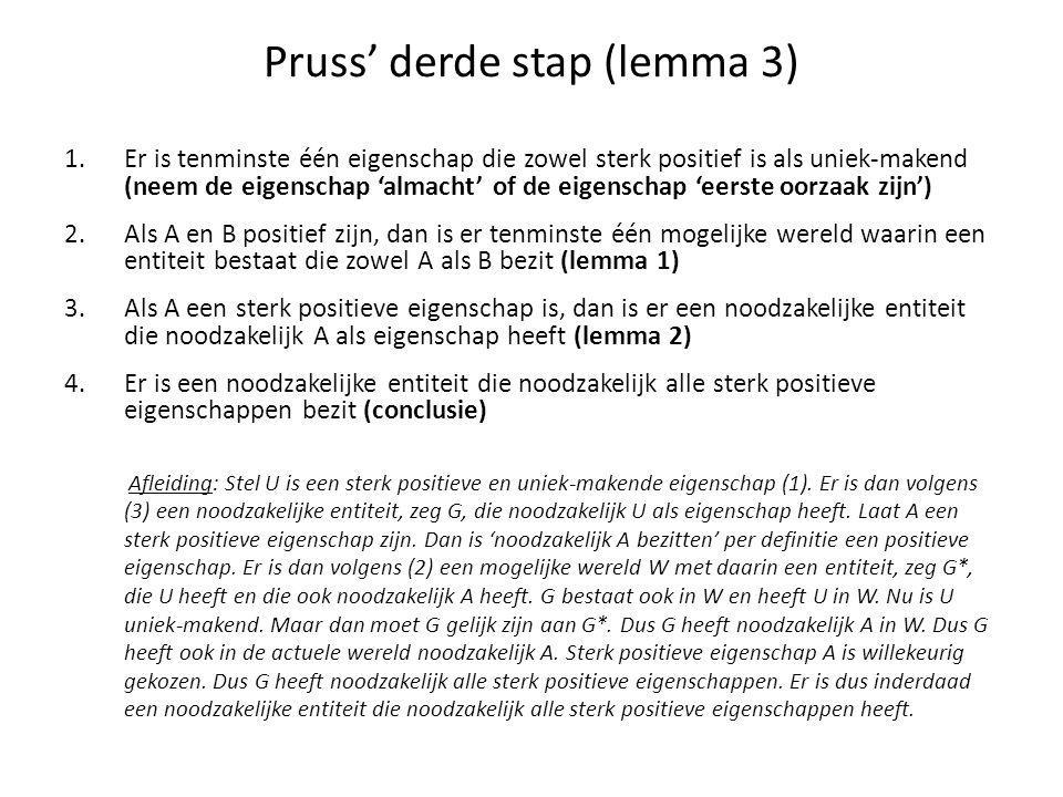 Pruss' derde stap (lemma 3)