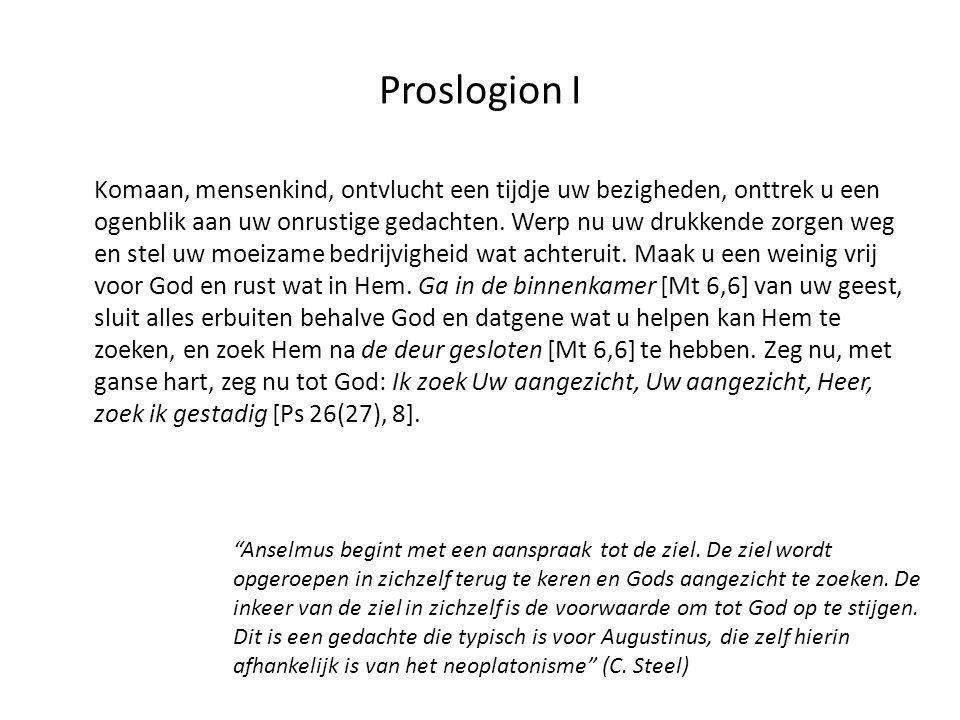 Proslogion I