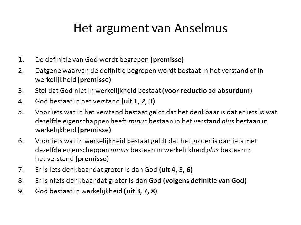 Het argument van Anselmus