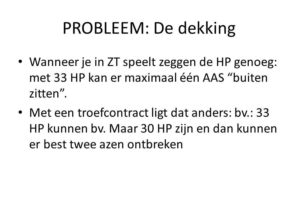 PROBLEEM: De dekking Wanneer je in ZT speelt zeggen de HP genoeg: met 33 HP kan er maximaal één AAS buiten zitten .