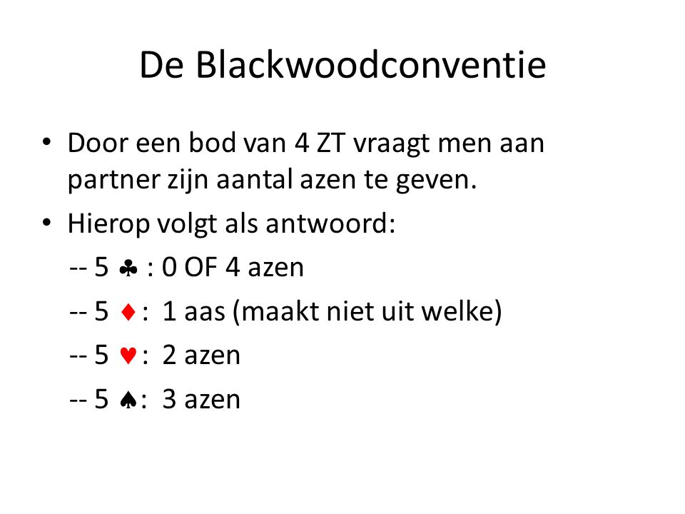De Blackwoodconventie