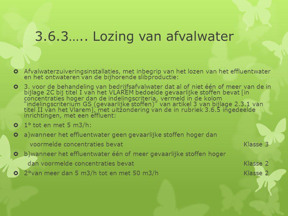3.6.3….. Lozing van afvalwater
