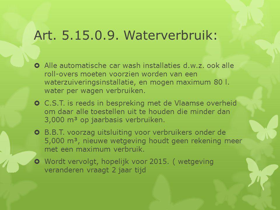 Art. 5.15.0.9. Waterverbruik: