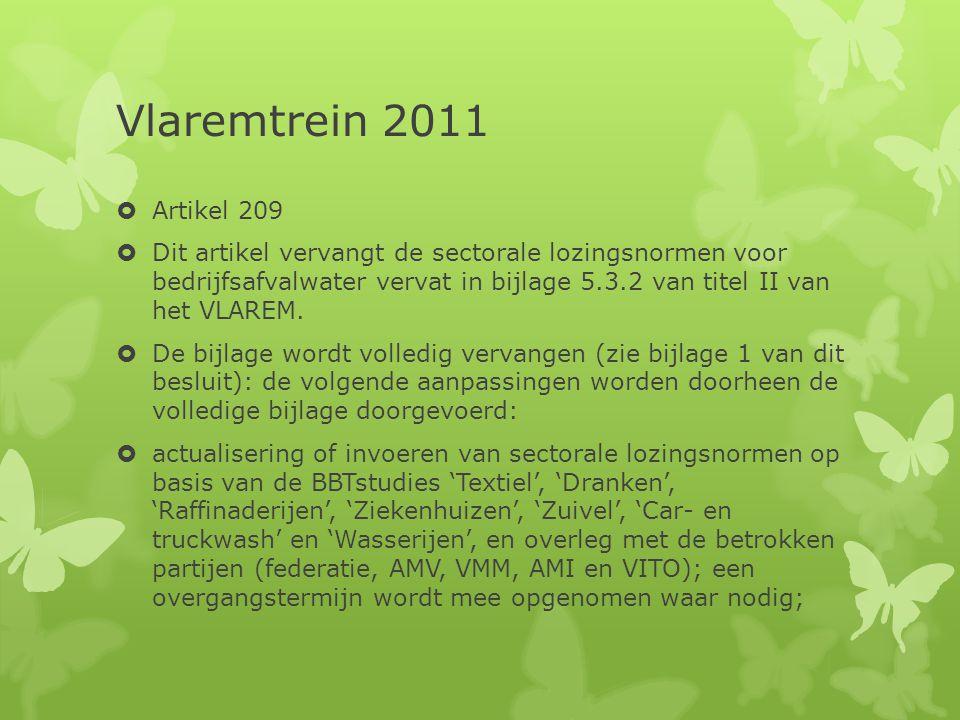 Vlaremtrein 2011 Artikel 209.