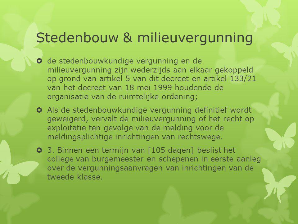 Stedenbouw & milieuvergunning