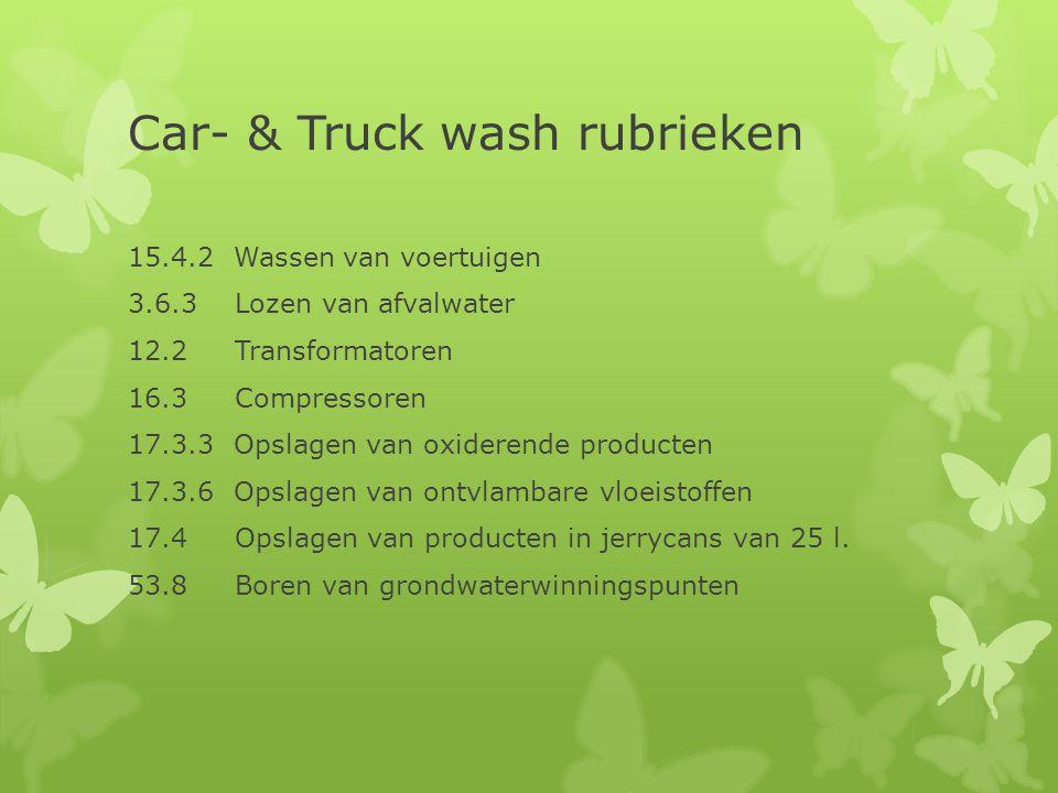 Car- & Truck wash rubrieken