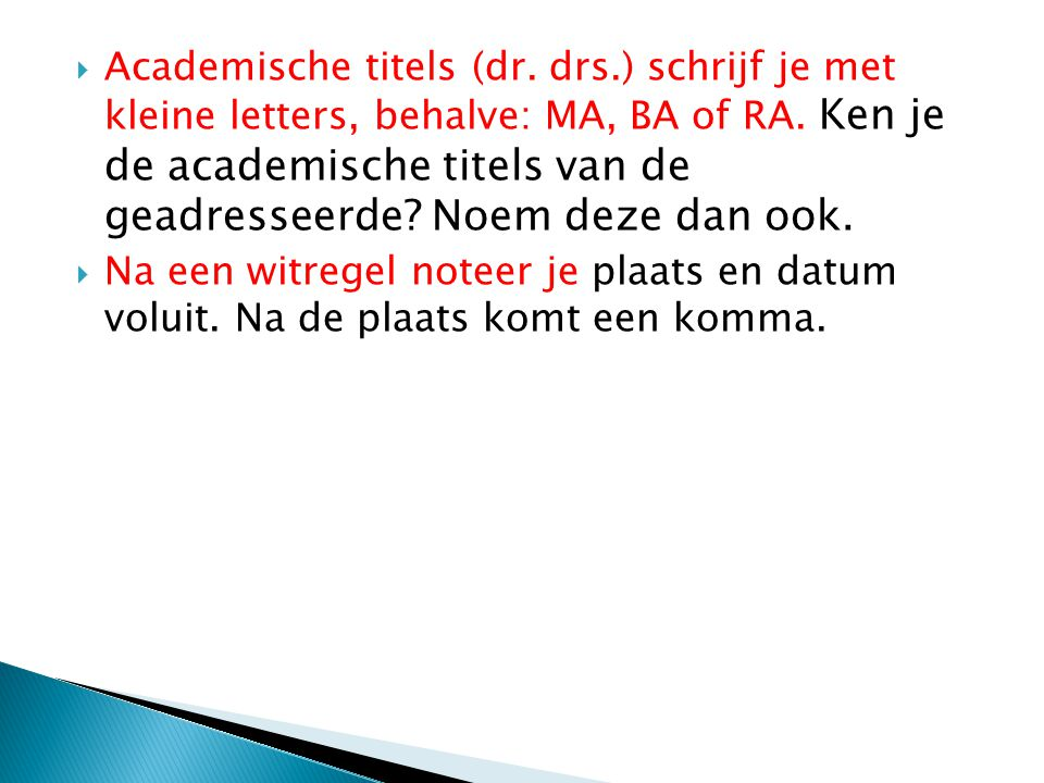 Academische titels (dr. drs