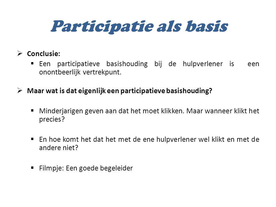 Participatie als basis