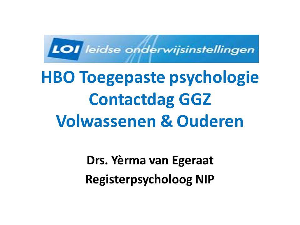 HBO Toegepaste psychologie Contactdag GGZ Volwassenen & Ouderen