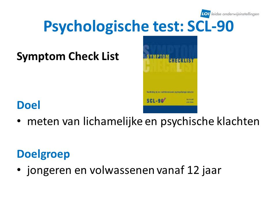 Psychologische test: SCL-90