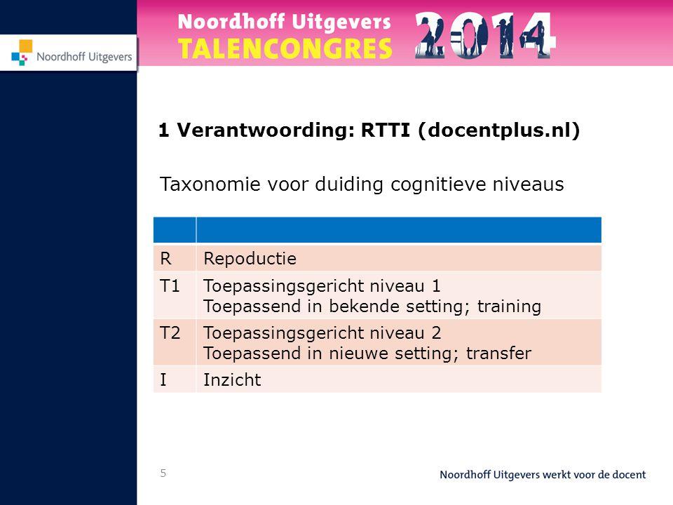 1 Verantwoording: RTTI (docentplus.nl)