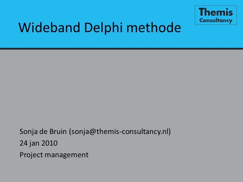 Wideband Delphi methode