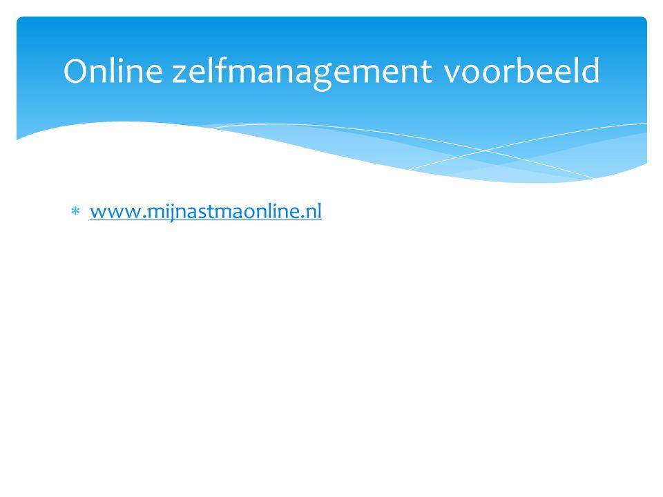 Online zelfmanagement voorbeeld