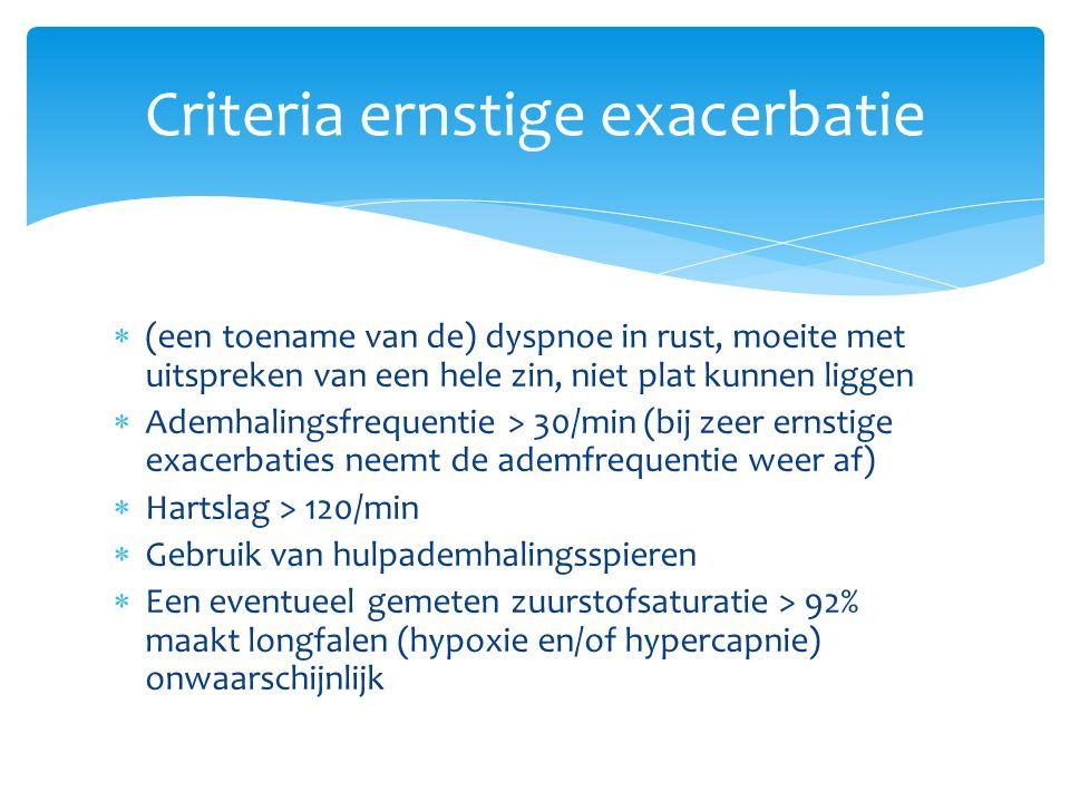 Criteria ernstige exacerbatie